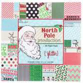 "North Pole Production Paper Pack - 12"" x 12"""